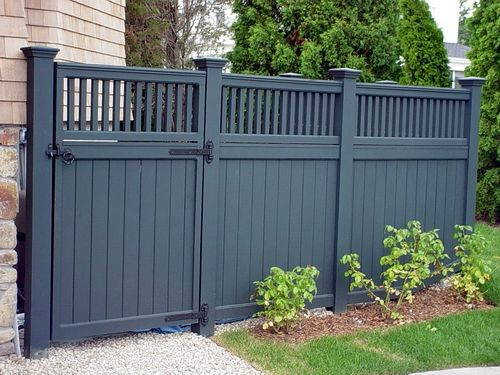 25 best ideas about fence styles on pinterest front for Front garden fence designs