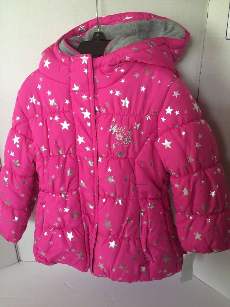 ZeroXposur Jacket Girls Size 4 Hot Pink Silver Hoodie Double Closure  $80VAL #ZeroXposur #PufferJacket #Everyday