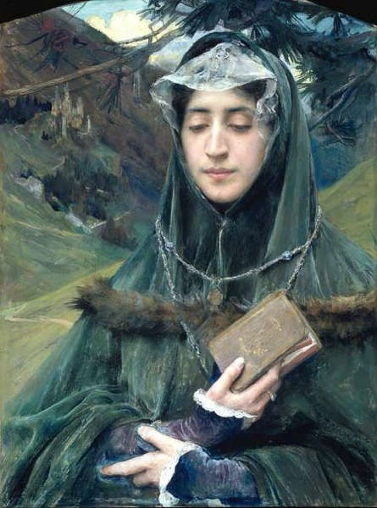 books0977:  Le Missel (1899). Edgard Maxence (French, 1871-1954). Tempera on paper. Whereas Symbolism stressed feeling and evocation over de...
