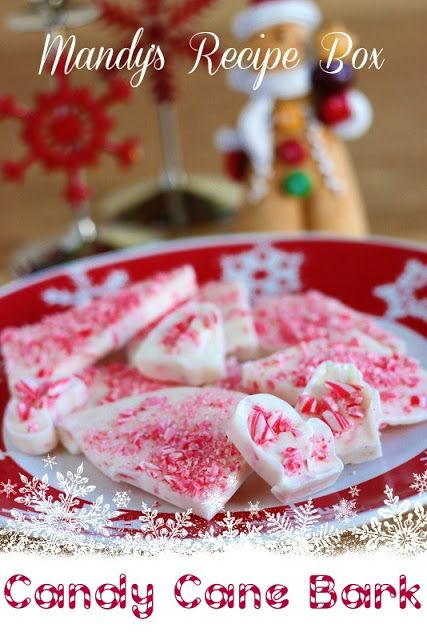 Candy Cane Bark on Mandy's Recipe Box.---For my Mom who was just asking for this type of recipe the other day.