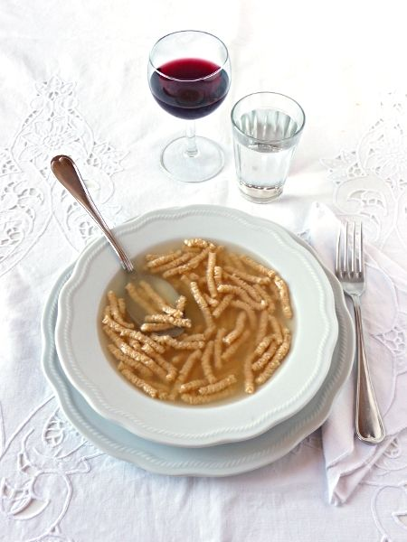 Passatelli in chicken broth