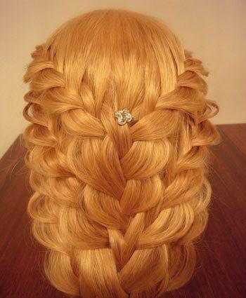 Нарядные детские прически на длинные волосы
