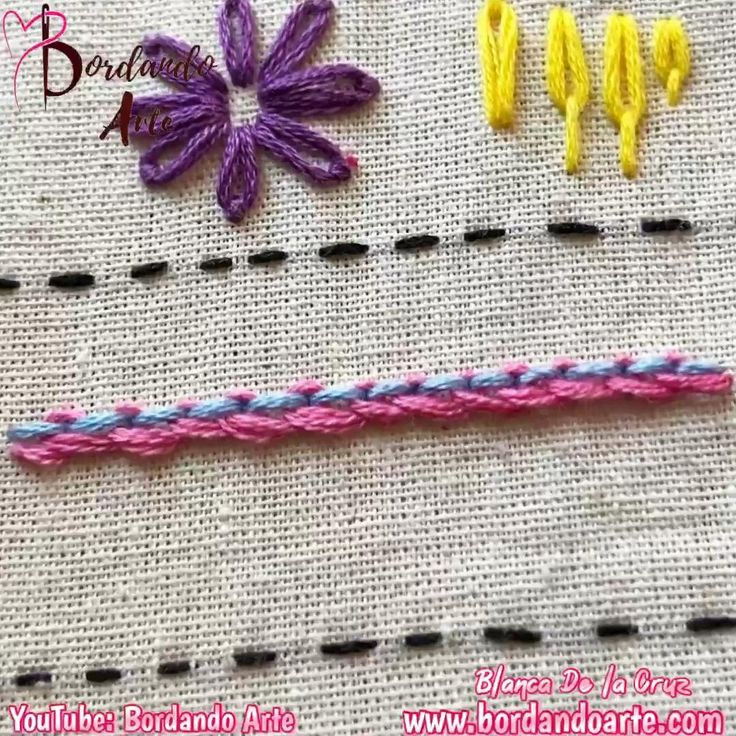 Mira el tutorial completo para hacer tu muestrario de puntadas. Floral Embroidery Patterns, Hand Embroidery Videos, Embroidery Stitches Tutorial, Creative Embroidery, Simple Embroidery, Learn Embroidery, Hand Embroidery Stitches, Crewel Embroidery, Embroidery Techniques