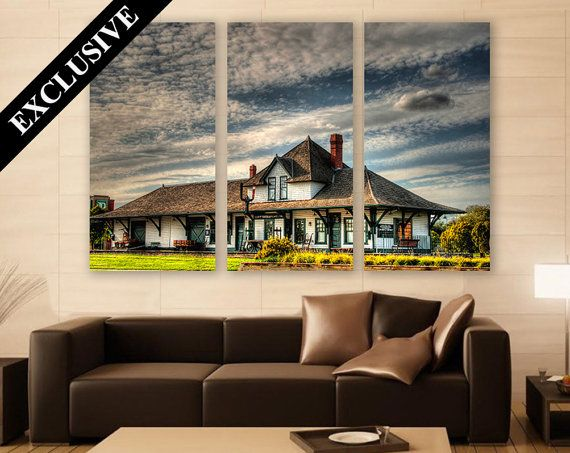 Canvas Print Home Decor Building Photography Canada Living Room Wall Art Country Modern Extra Large
