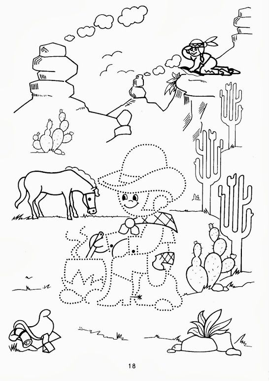 schrijfpatroon cowboys, groep 1, free printable