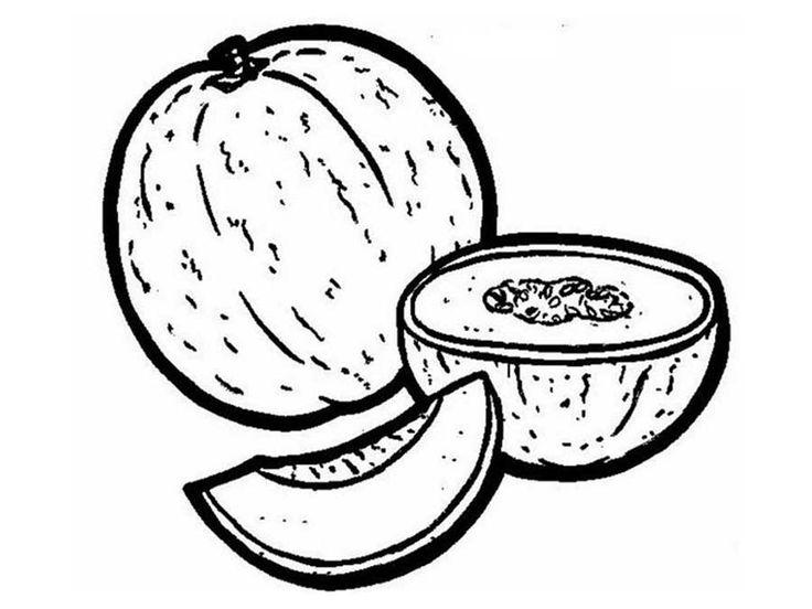 Melón - Dibujos alimentos