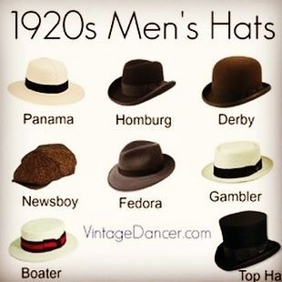 What goes together...Dapper Gents and daddy-o hats! 1920s Flapper everything, always.   (@vintagedancer)