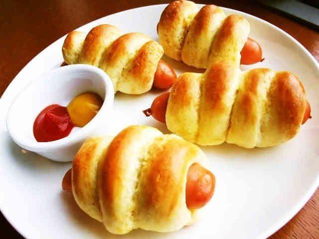 ⁂材料③HMで簡単ウインナーパン⁂の画像