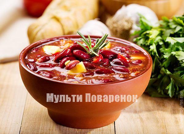 Фасолевый суп в мультиварке   Мультиповаренок