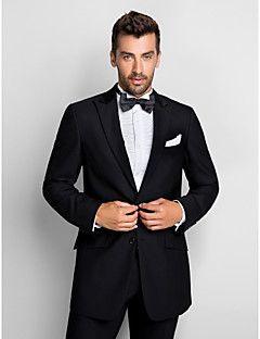 Black 100% Wool Standard Fit Two-Piece Tuxedo