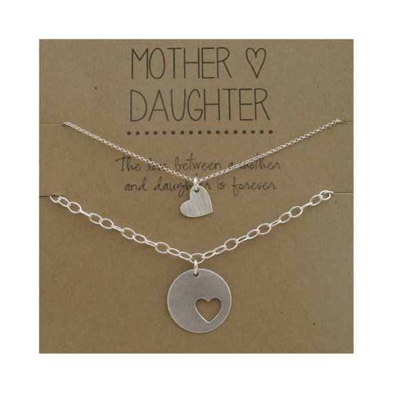 Mother Daughter Bracelet Set - silver hearts - mother jewelry - mother's day gift