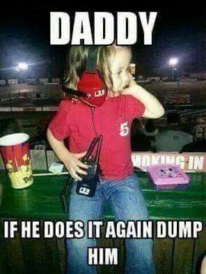 If only dirt racing used radios lol