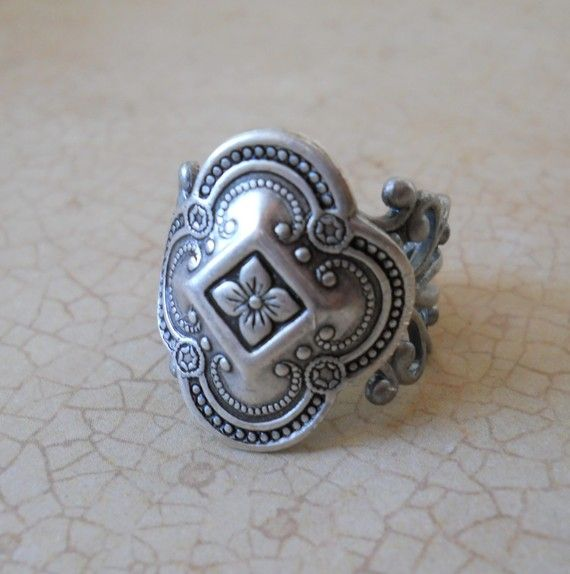 Celtic Inspired Antiqued Silver Unisex Ring by EnchantedLockets, $21.00