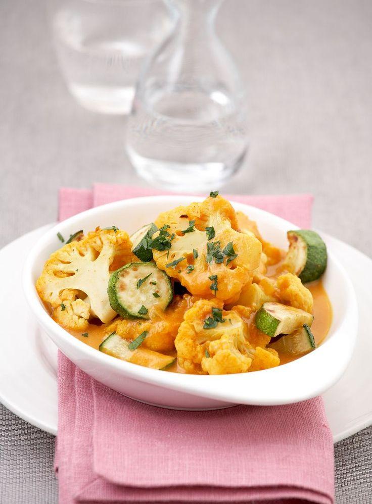 Blumenkohlcurry mit Zucchini