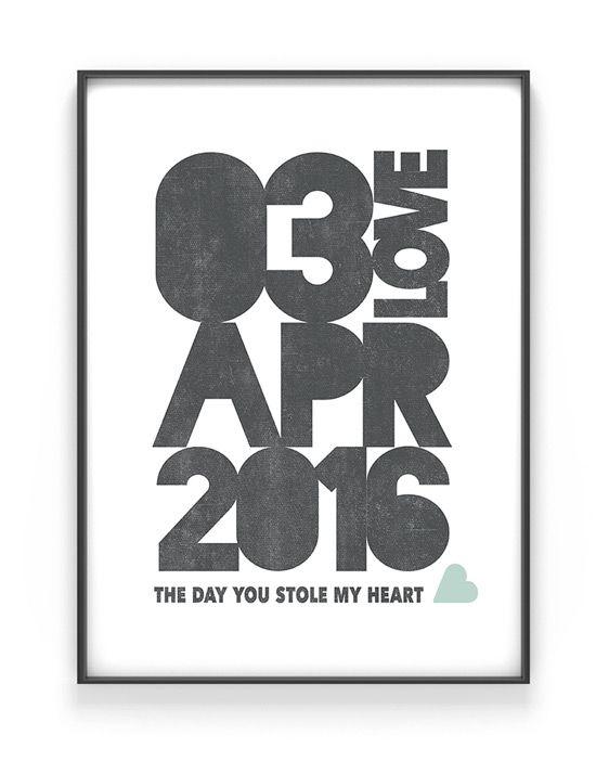 "Date Poster – Personalisiertes Poster mit Ihrem ""Special Date"""