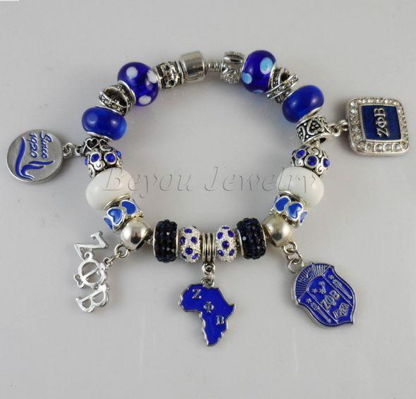 Zeta Phi Beta Charm Bracelet – Unique Greek Store