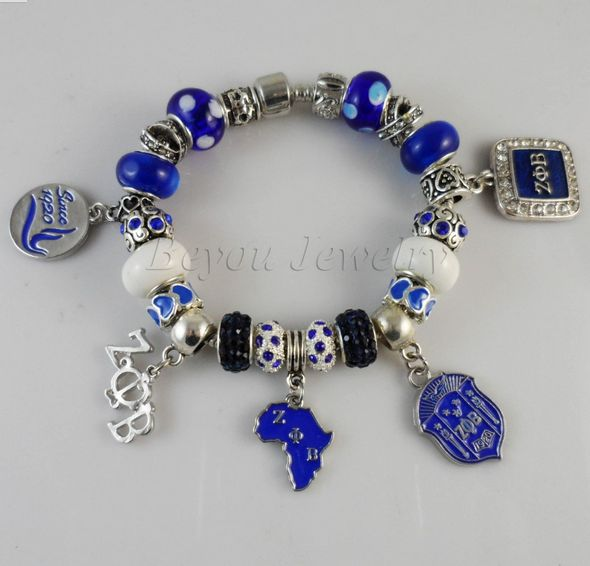 Zeta Phi Beta Charm Bracelet – Unique Greek Store