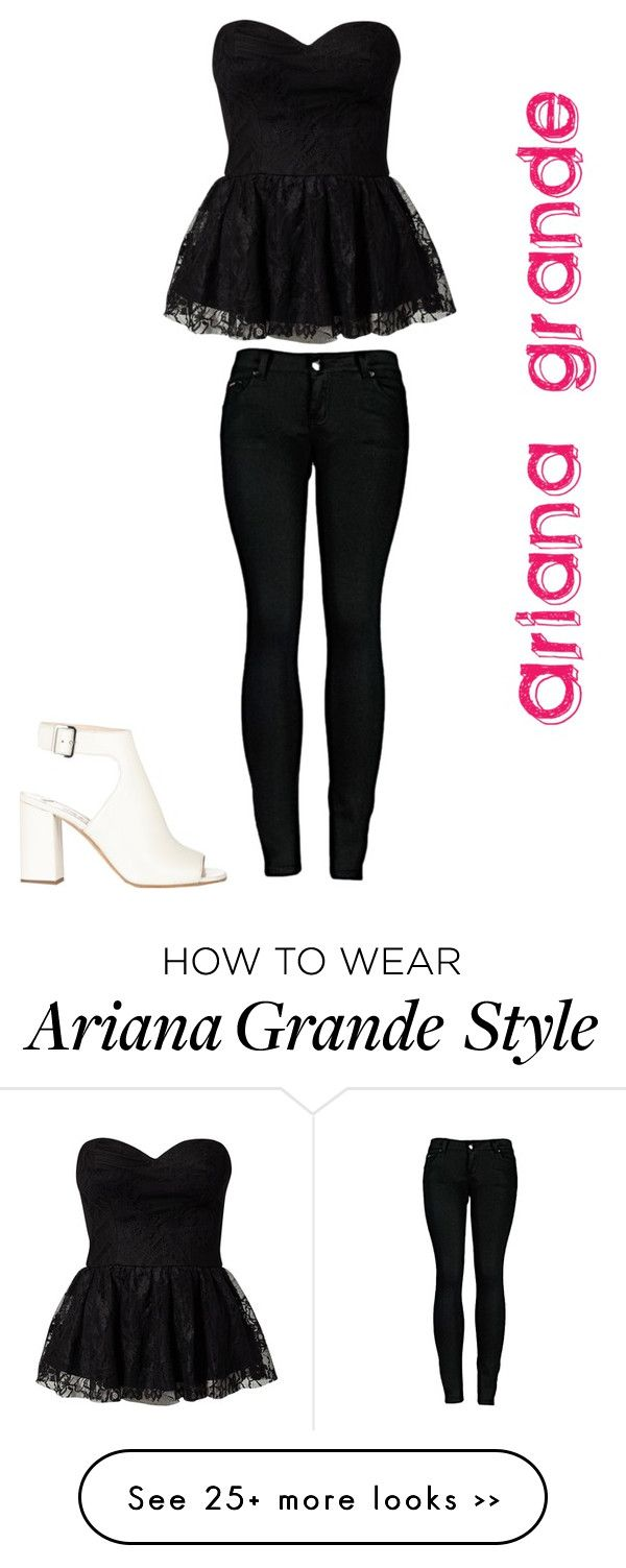 """Ariana grande inspired look"" by desiv2001 on Polyvore"
