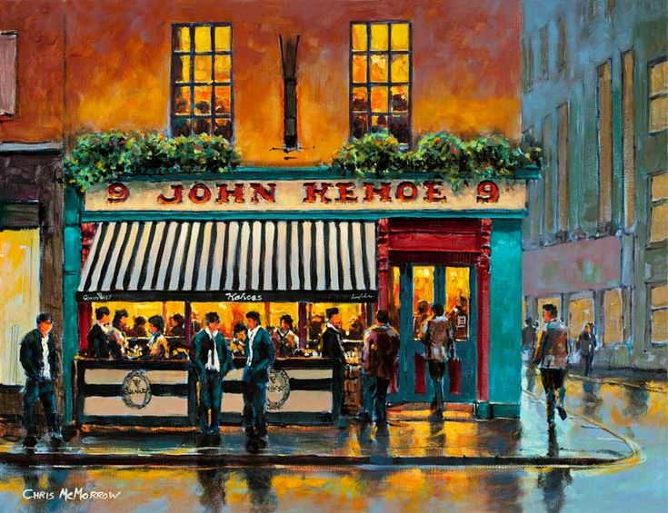 kehoes pub dublin code 542 original painting by chris mcmorrow limited edition prints. Black Bedroom Furniture Sets. Home Design Ideas