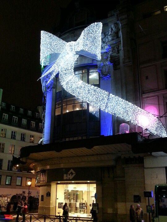 Illuminations 2012 Façade BHV Paris. Christmas light.