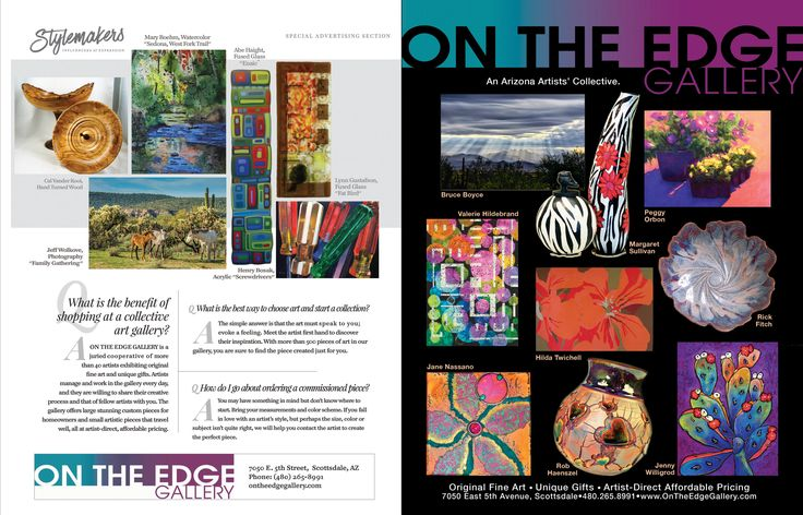 On the Edge Gallery double spread ad in Phx. Hm. & Grdn. mag.jpg