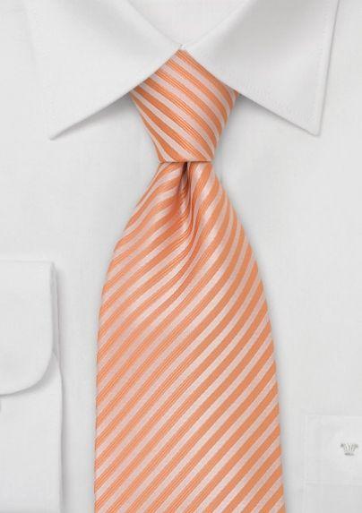 Light Orange Striped Necktie $14.90