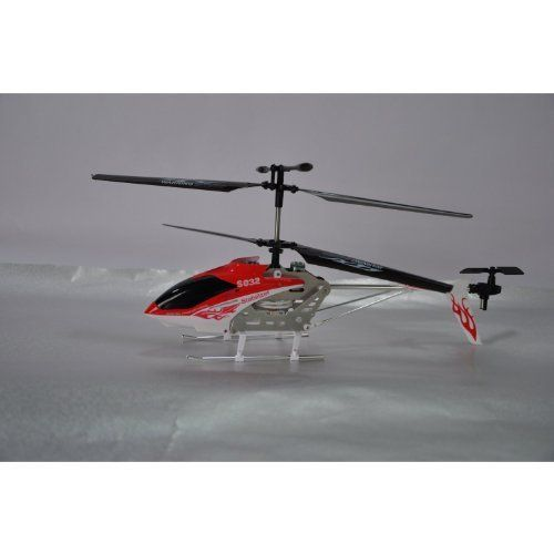 Syma S032 Gyro S032G 3.5-Ch Metal Outdoor RC Helicopter Newest Model with Mini Tool Box (fs) . $144.95. Brand new s032 3.5 channel RC helicopter with gyro ready to fly kit is now available to you for best price you want. This is the authentic Syma version from manufacturer. Beware products and versions with foreign characters as they might be fake and not designed for international market.   Comes with Mini Tool Box Great for storing any miscellaneous items or your spare chang...