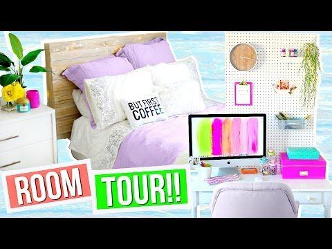 ROOM TOUR 2016!! Room Decor + Organization Ideas!! Alisha Marie - YouTube