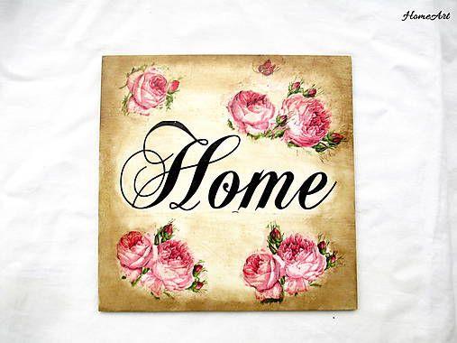 Vintage tabuľka Home