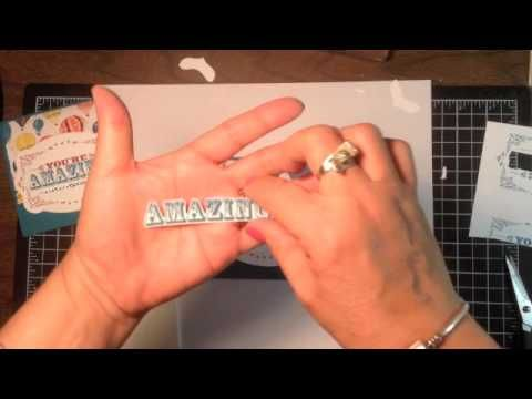 Stampin' Up! Video Tutorial- You're Amazing Tips