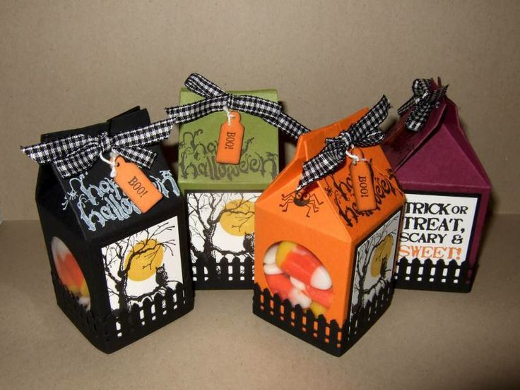 Halloween Treat Mini Milk Cartons