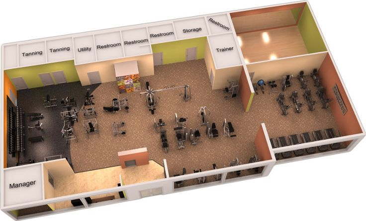 Great 3d gym design 3d gym desings and gym plans for Gym design layout