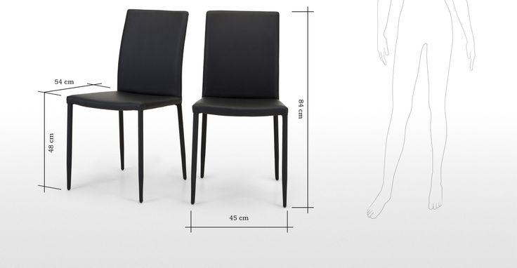 2 x Scarpa chaises noirs | made.com