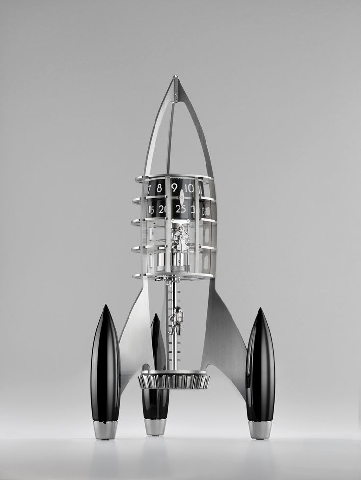 Some things are best left to the imagination and MB&F's Destination Moon does just that. It delivers just enough engineering for an eight-day clock looking like an exciting science fiction rocket from the 1960s, but with plentiful empty space allowing our imaginations to fill in the details.