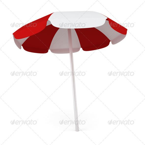 Beach umbrella ...  3d, Tanning, accessory, background, beach, coast, color, colorful, comfort, copy, day, fun, holiday, hot, isolated, object, open, outdoor, parasol, pool, protect, protection, protective, red, relax, relaxation, resort, rest, sea, shade, shadow, single, space, striped, summer, summertime, sun, sunlight, sunny, sunshade, tan, tourism, travel, tropical, umbrella, vacation, white