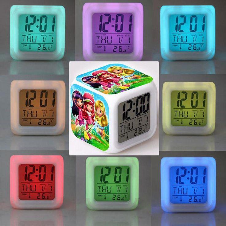 https://flic.kr/p/TecjhQ | Çilek Kız Temalı, Termometreli, Led Işıklı Dijital Masa Saati .. Çocuklarınız için mükemmel bir hediye. Hem başucu lambası hem termometre hem de saat.  #çilekkız #strawberry #Supercell #Saat #Masasaati #Termometre #clocks #watch #saatler #moda #dijitalsaa