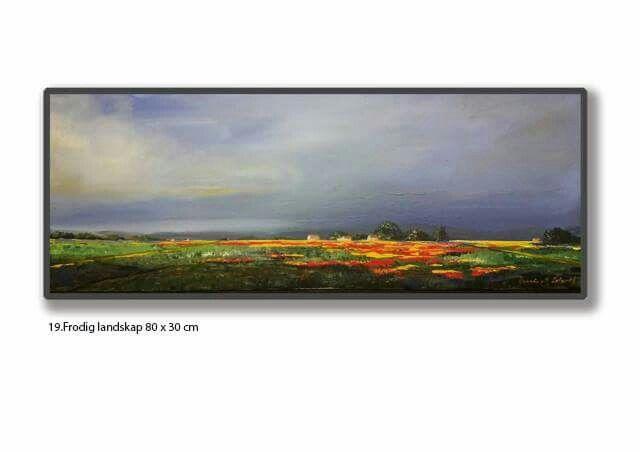 19 . Frodig landskap 80 x 30 cm