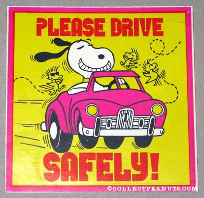 Snoopy Drive Safely