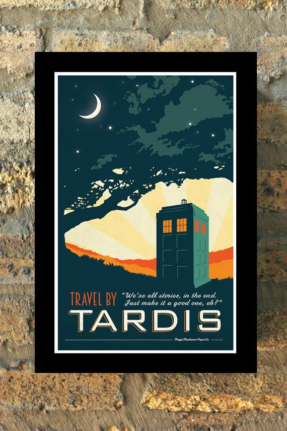 TARDIS Doctor Who Travel Poster Vintage Print Geekery Wall Art House Erwärmung neue Wohnung