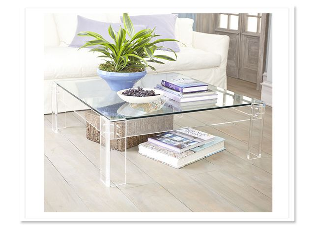 clear glass or plastic table