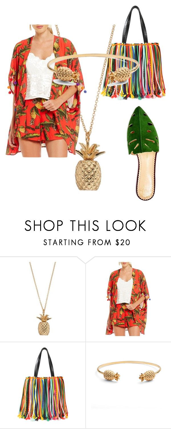 """What rhymes with pineapple?"" by xelletz ❤ liked on Polyvore featuring Gianni Bini, Emilio Pucci, Rachel Jackson and Charlotte Olympia"