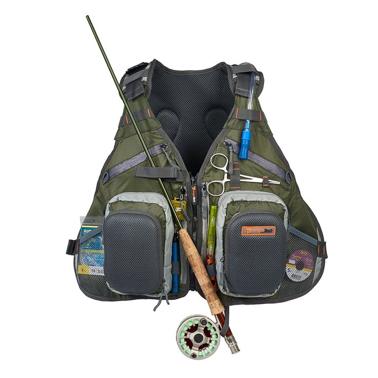 With the Anglatech Fly Fishing Tackle Backpack and Vest Combo, you won't have to leave a thing behind or deal with carrying an awkward fishing tackle bag or box. This unique fishing backpack lets you wear all of your fishing gear and keep it organized!