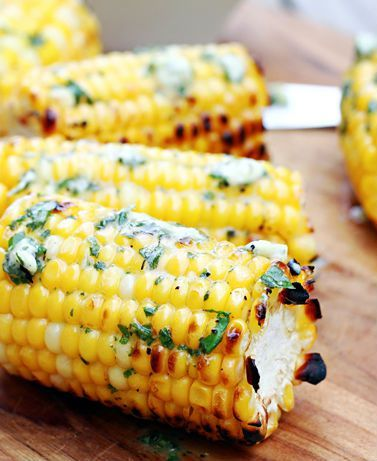 Grilled Corn with Basil Butter | 30 EASY recipes to make for this end-of-summer Holiday weekend | Labor Day Food Ideas