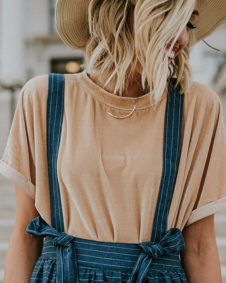 Velvet Shirt + Overall Skirt