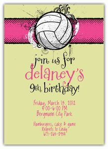 Volleyball Party Invitation