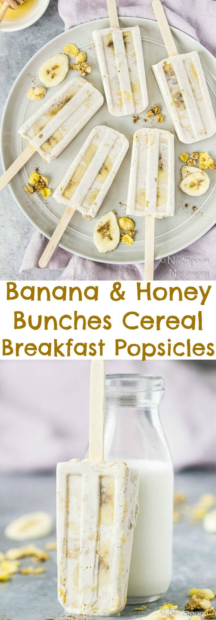 Banana & Honey Bunches Cereal Breakfast Popsicles
