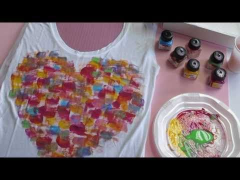 Cómo customizar una camiseta con pintura textil - Mummy Crafts