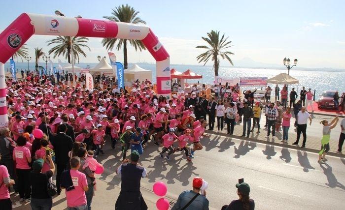 l'UBCI, Sponsor de courir «contre le cancer» Octobre rose