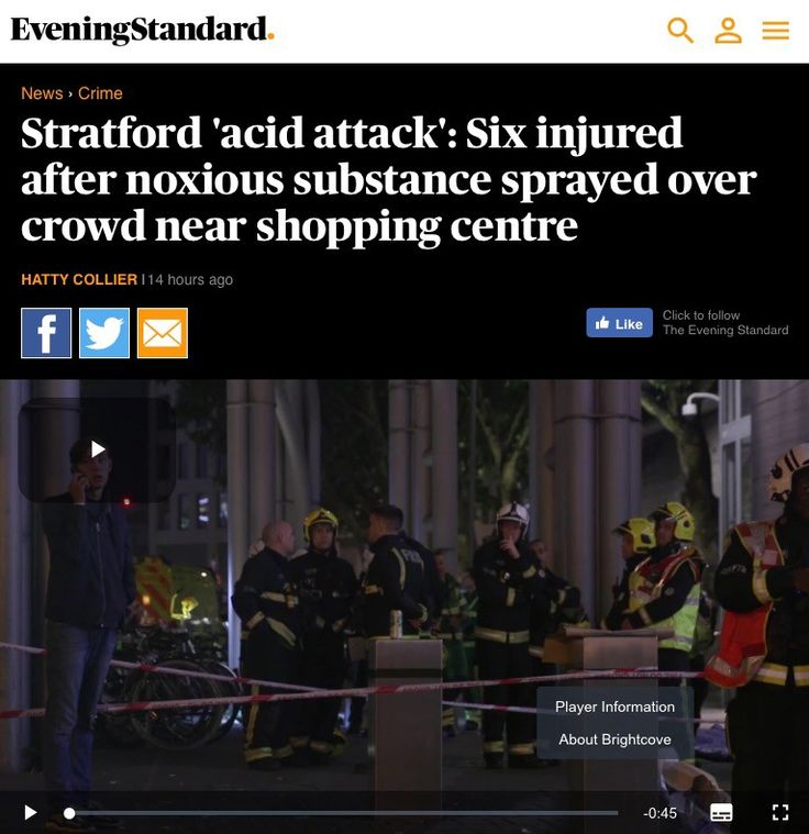Shoppers sprayed with acid in London – and no one blinks