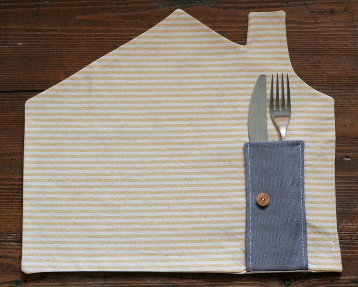 Placemat yellow white stripes arte para ni os for Agarraderas para ninos
